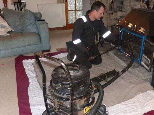 chimney power sweeping